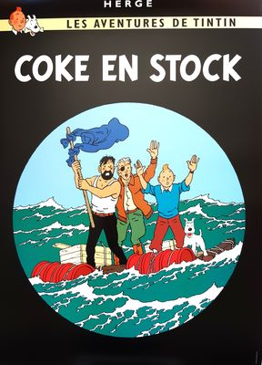 Tintti-juliste Coke en Stock