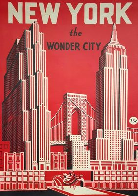 Juliste New York Wonder City
